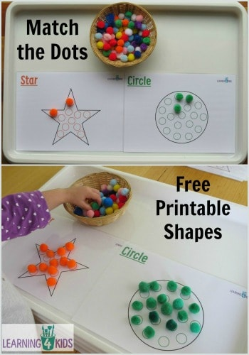 Match the Dots Free Printable Shapes