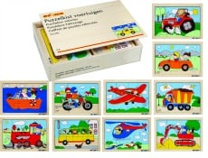 Vehicle Puzzle Box Set of 10