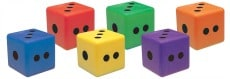 Moulded Foam Dot Dice 6 Pieces