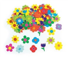 Glossy Printed Flower Pasting Pieces Pack of 1250