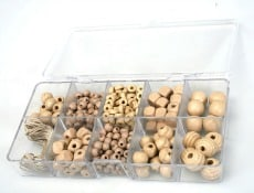 Buy Wooden Natural Beads Box Online