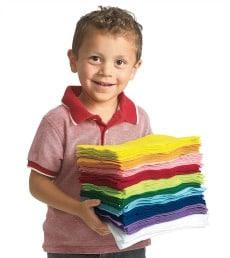 Buy Bulk Pack 100 Coloured Felt Square Sheets Online