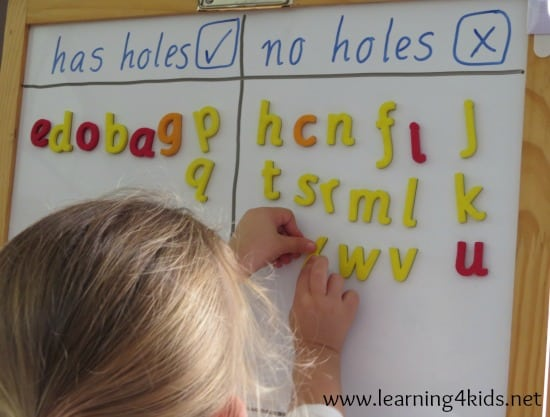 Alphabet Sort - Learning the Alphabet Activities for KIds