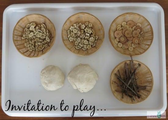 Coconut Play Dough Play