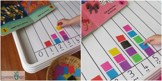 Learning to count activity learning 4 kids for Educational crafts for toddlers