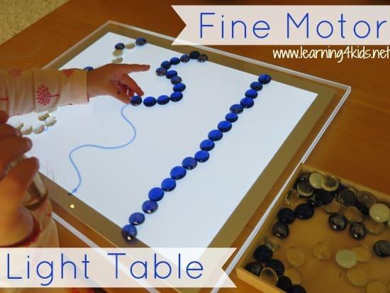 Fine Motor Light Table