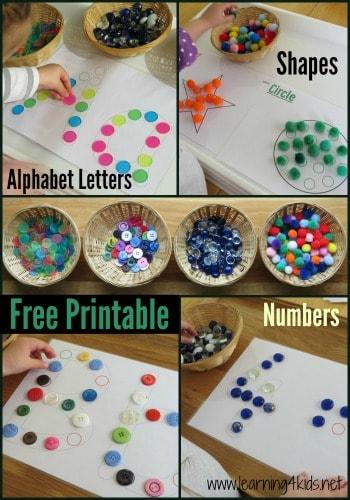Free Printable Dot Matching
