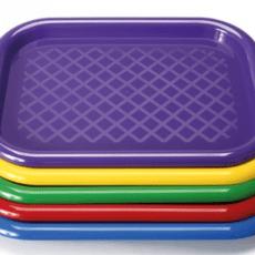 Large Plastic Art Trays Pack 5