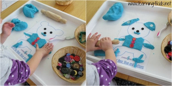 Learning through play, fine motor skills and play dough