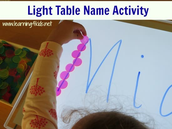 Light Table Name Activity