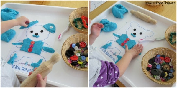 Play Activities for Toddlers - Making a Play Dough Teddy Bear