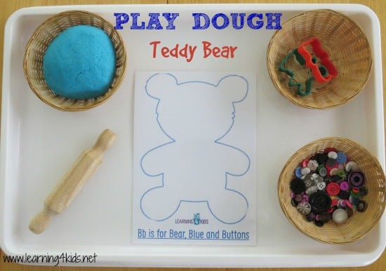 Play Dough Teddy Bear