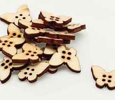 Wooden Butterfly Buttons