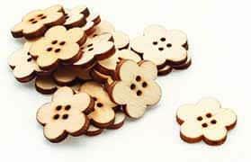 Wooden Flower Buttons