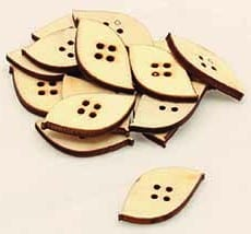 Wooden Leaf Buttons