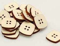 Buy Wooden Square Buttons Online