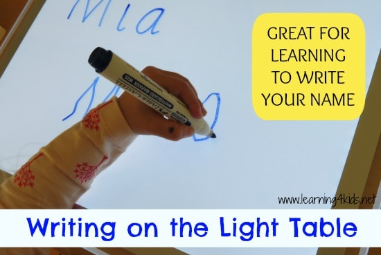 Writing on the Light Table