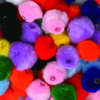 Pom Beads Small Pack of 100 1.5cm