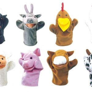 Farm Animal Hand Puppets Set of 8