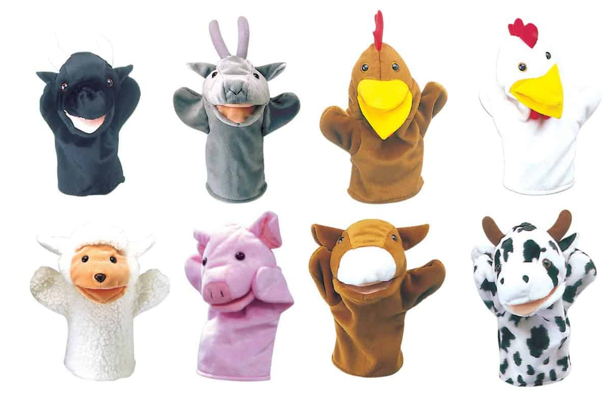 Farm Animal Hand Puppets Set Of 8 Learning 4 Kids