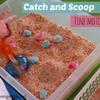 Catch and Scoop Fine Motor Fun Activity for Kids