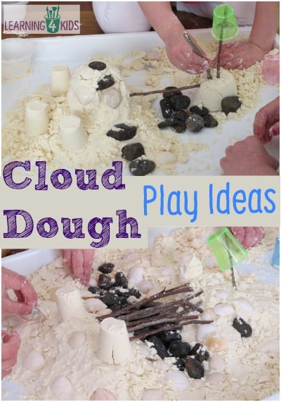 Cloud Dough Play Ideas and Activities