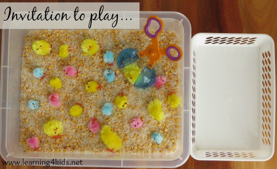 Invitation to play fine motor activity for toddlers and preschoolers