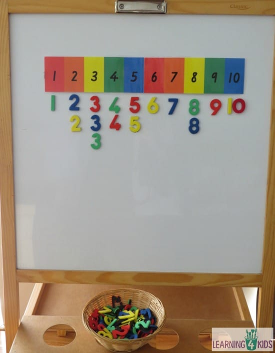 Invitation to play number line counting