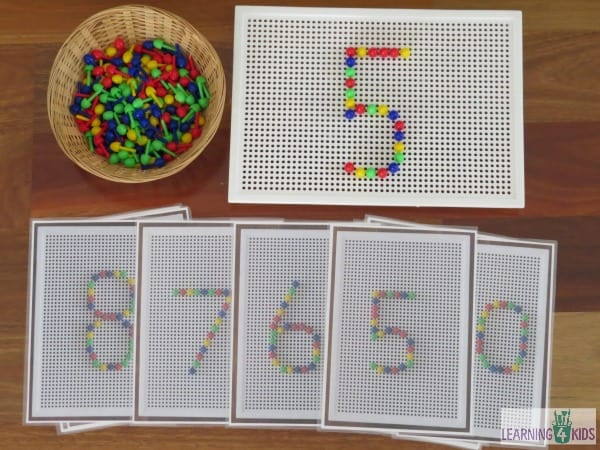 Invitation to play number peg boards