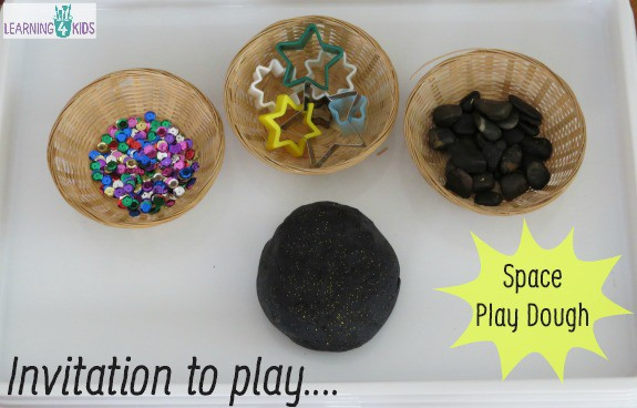 Invitation to play space play dough