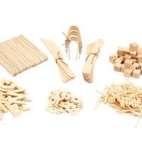Natural Wooden Play Dough Kit