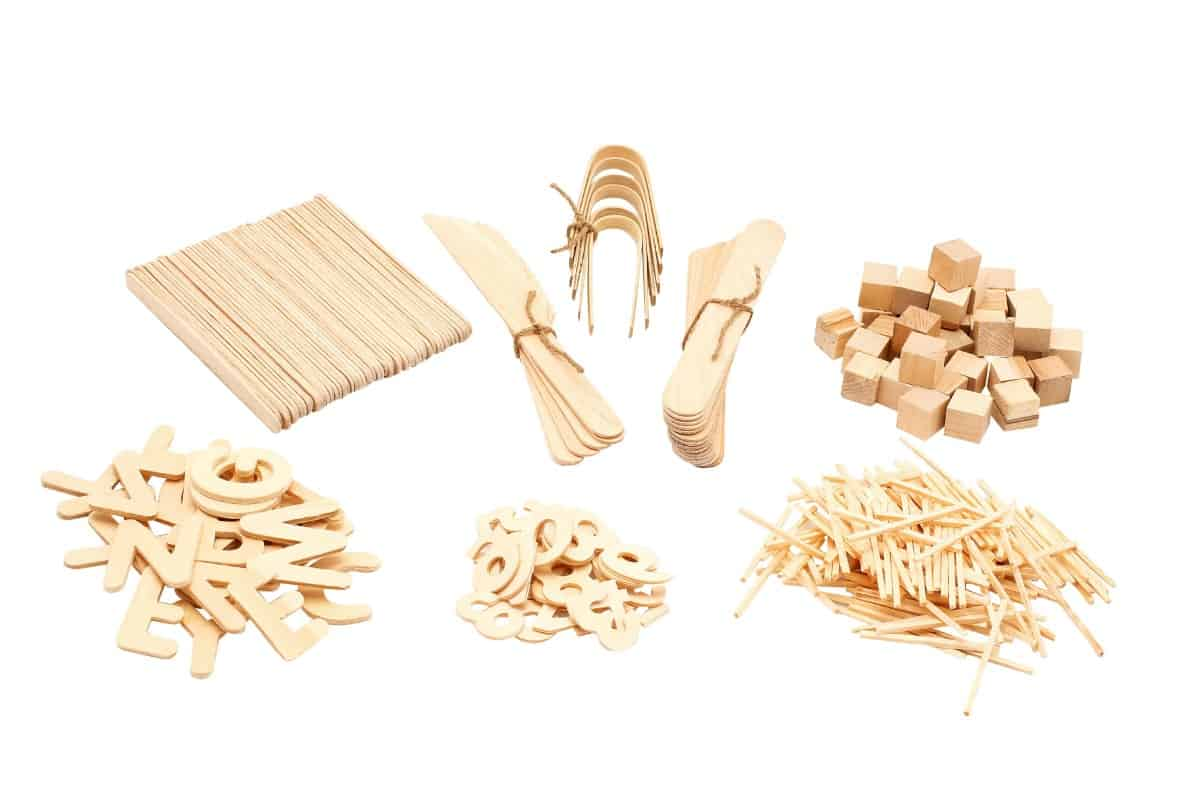 Natural Wooden Play Dough Kit