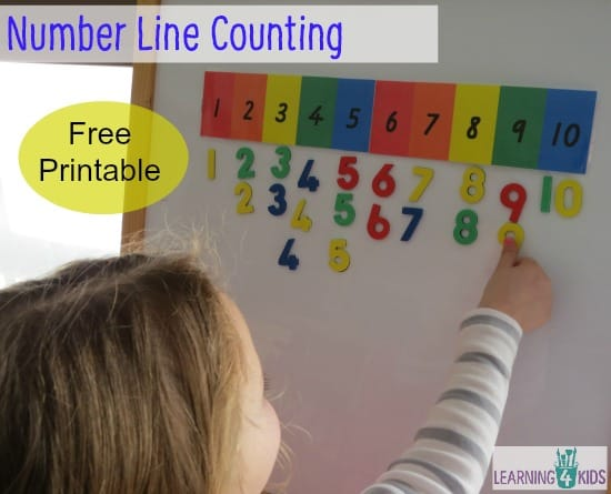 Number Line Counting | Learning 4 Kids