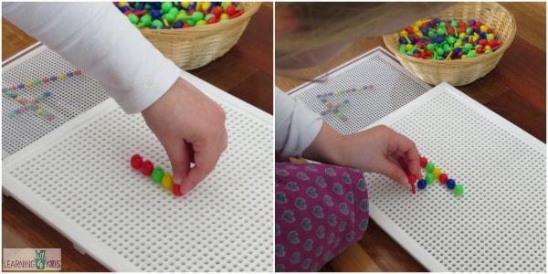 Peg Board Activities for Kids and Preschoolers