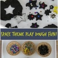 Space Theme Play Dough Activity
