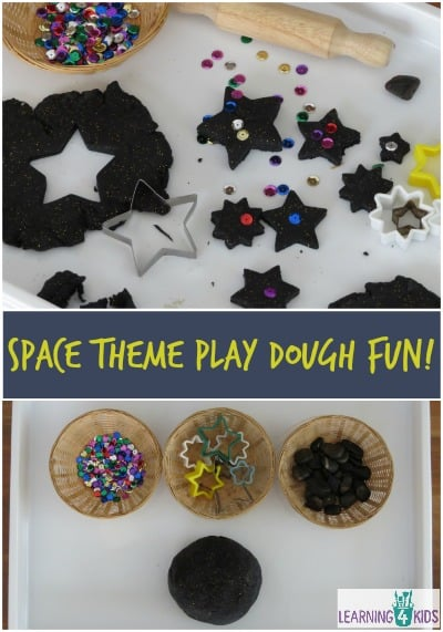 Space Theme Play Dough Activity