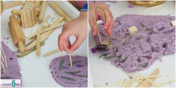 lets learn lavender scented play dough