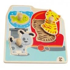 Hape Pets Knob Puzzle 3 piece