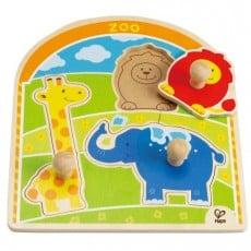 Hape Zoo Animals Knob Puzzle 3 piece