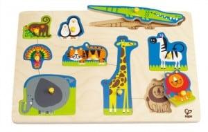 Hape Wild Animals Peg Puzzle 9 piece