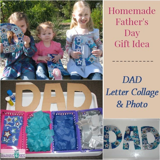 Homemade craft Father's Day gift idea | Learning 4 Kids