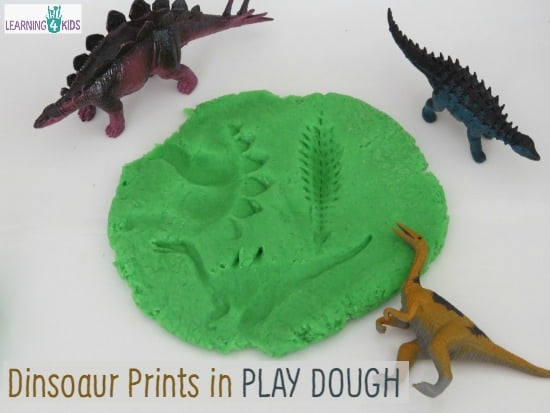 Dinosaur Prints in Play dough