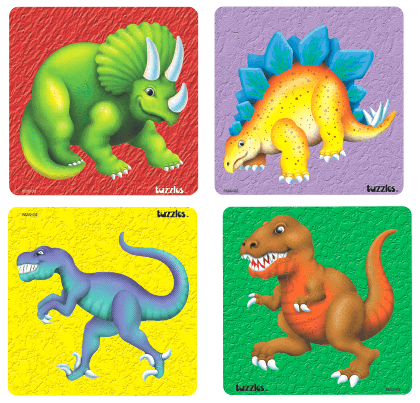 Toy Dinosaurs With Text Overlay