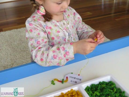 Fine Motor Threading Activity for Kids