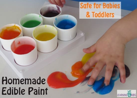 Homemade Edible Paint - Safe for Babies and Toddlers