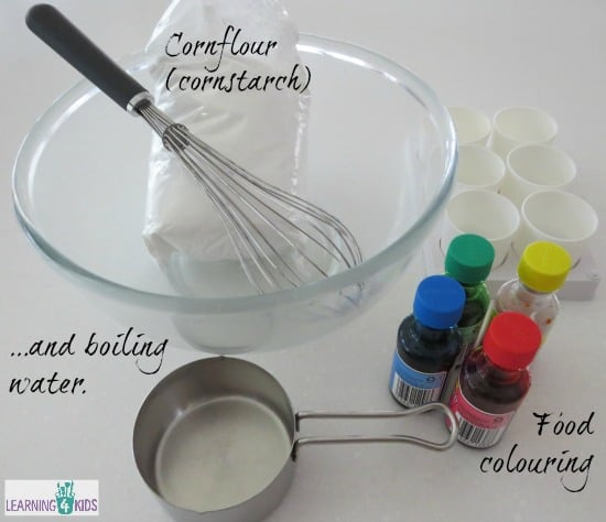 Ingredients to make homemade paint
