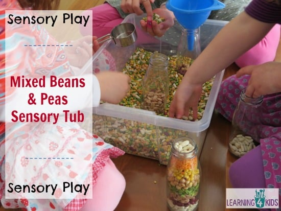 Mixed Beans And Peas Sensory Tub