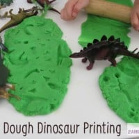 Play Dough Dinosaur Printing