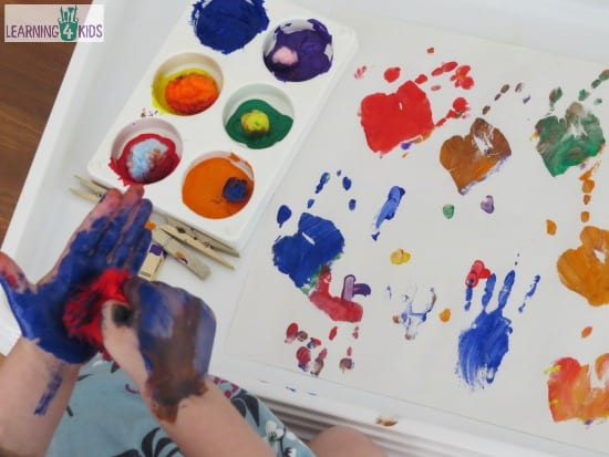 Pompom activities and paint