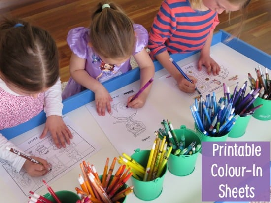 Printable Disney Junior Colour-in Sheets